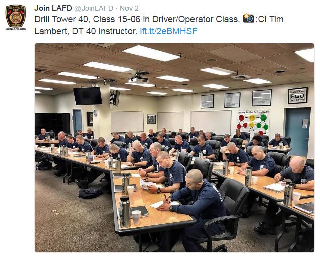 Recruits in a classroom