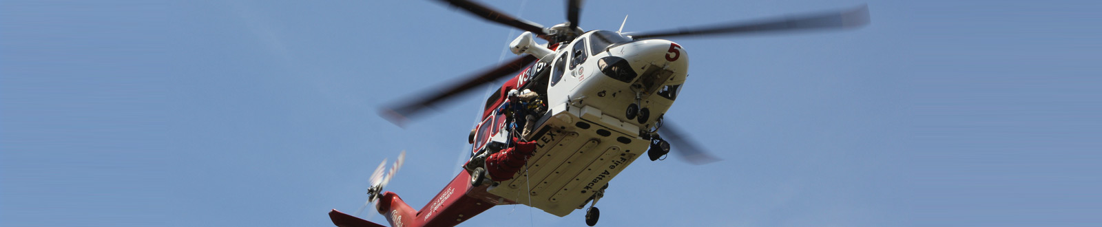An LAFD helicopter in flight