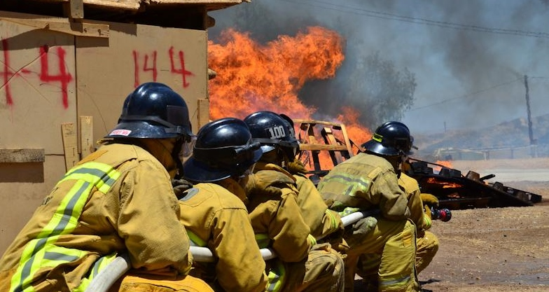 LAFD Highschool Cadets Train