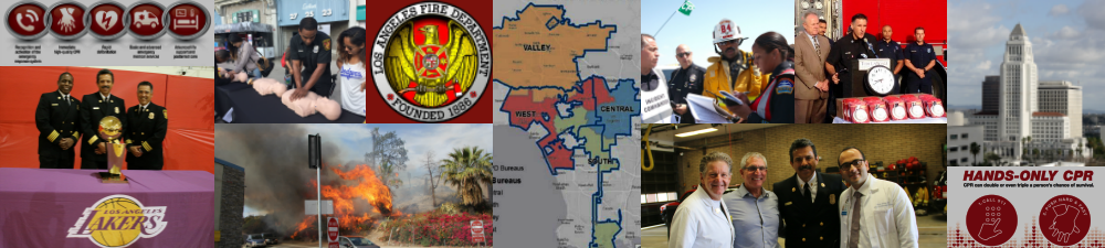 A collage of images from LAFD