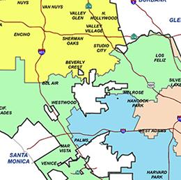 LAFD Bureaus Map