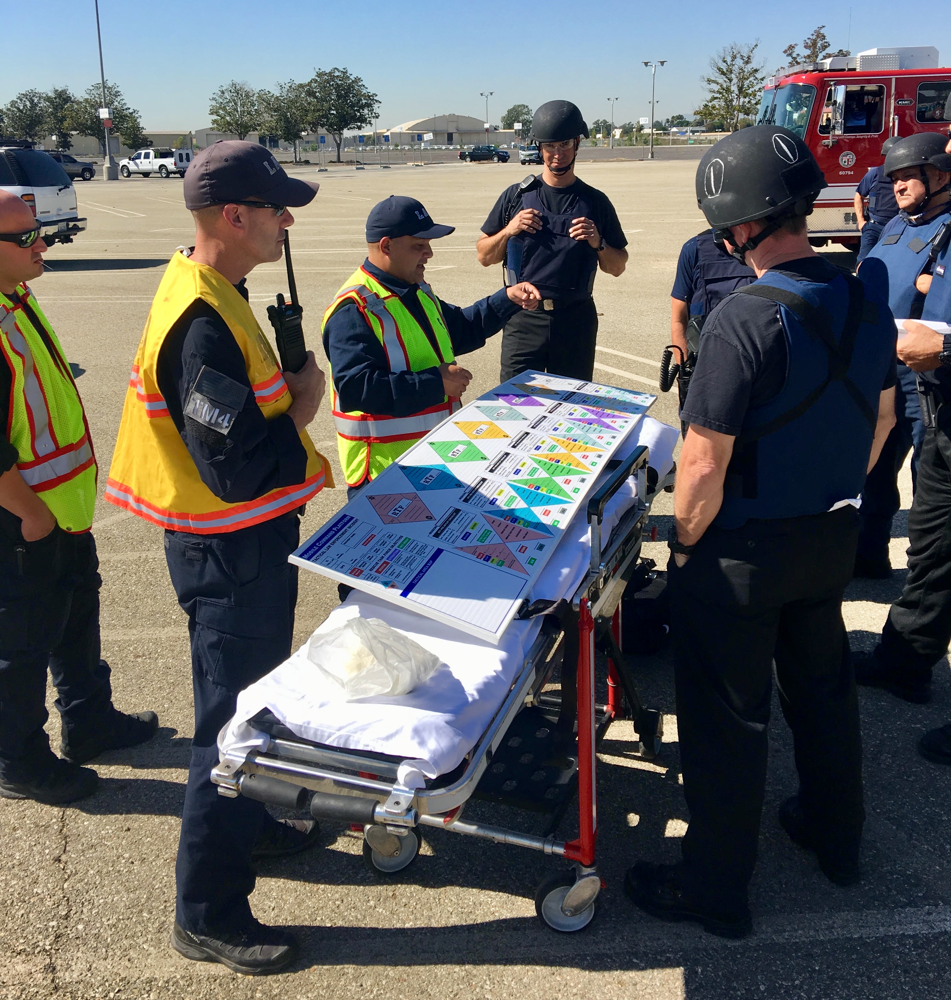 LAFD Tactical Emergency Medical Support Unit Performs