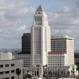 The Los Angeles City Hall