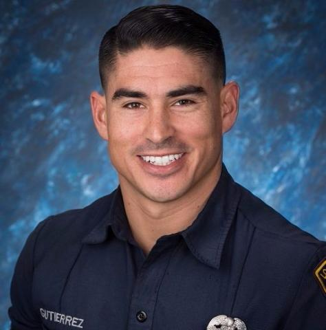 Photo of Firefighter Bryce Gutierrez in uniform