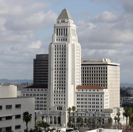 The Los Angeles City Hall