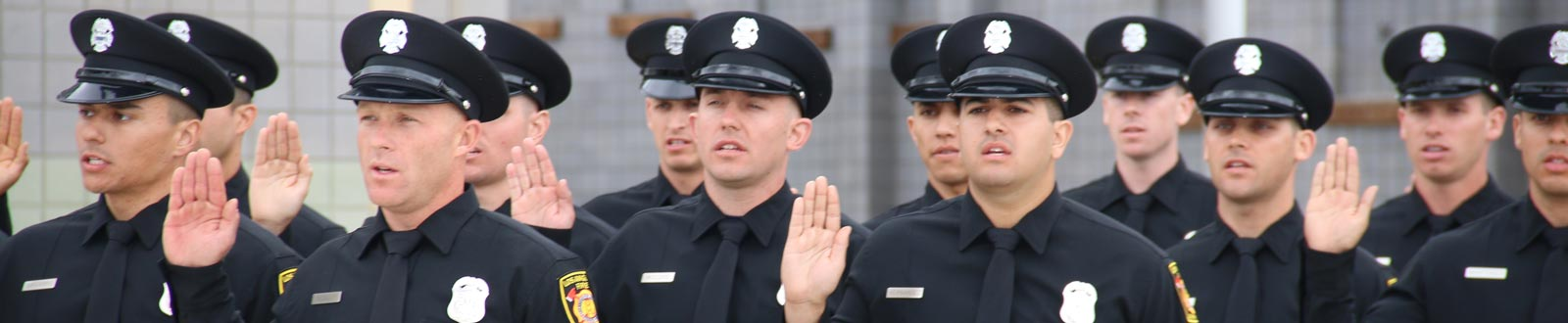 A new class of firefighters taking their oath