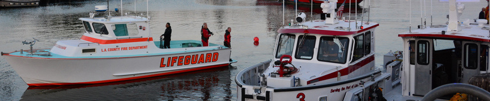 LAFD maritime boats and lifeguard