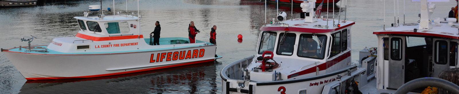 LAFD maritime boats and lifeguard