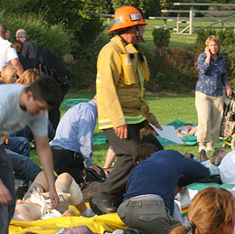 Citizens assist first responders in a crisis