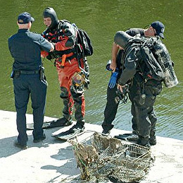 LAFD firefighters gear up in their dive equipment