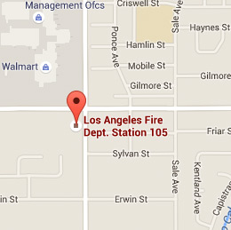 Map of Fire Station 105