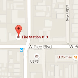 Map of Fire Station 13