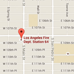 Map of Fire Station 64
