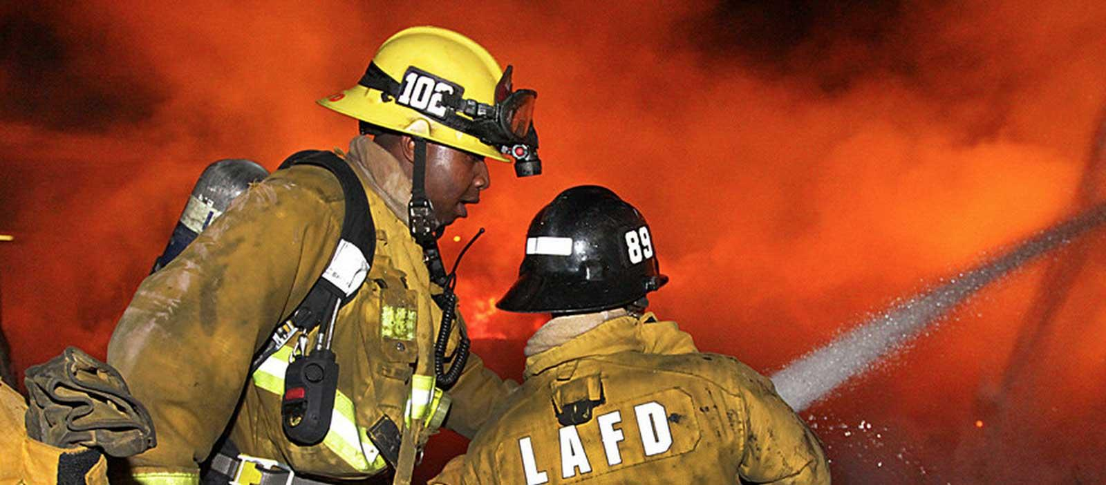 LAFD Fire Fighting