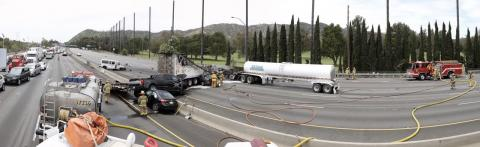 Fiery fatal collision on Golden State Freeway near Griffith Park
