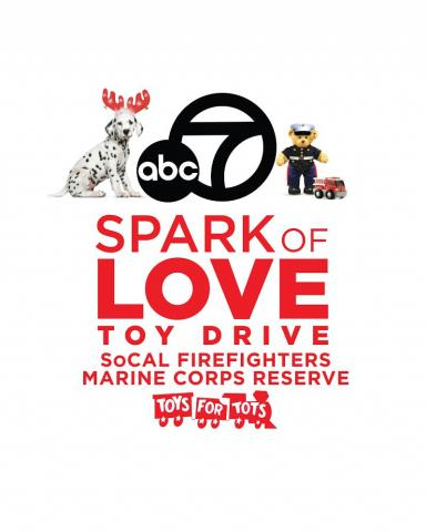 LAFD, USMC Reserve and ABC7 'Spark of Love' Toy Drive