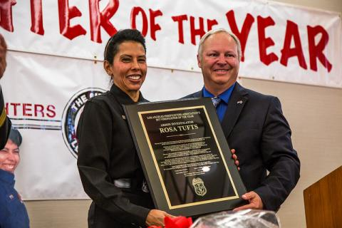 Arson Investigator Rosa Tufts is the 2017 'Firefighter of the Year'
