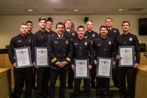 Task Force 10 Recognized at Board of Fire Commissioners Meeting
