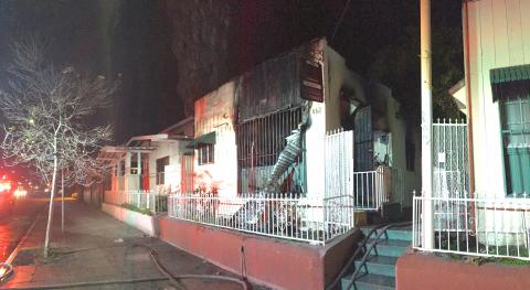 Aftermath of a January 16, 2017 greater alarm fire in South Los Angeles