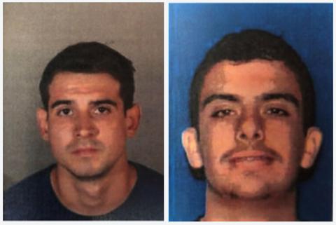 Booking Photos of Bryan Antonio Araujo-Cabrera (left) and Daniel Michael Nogueira