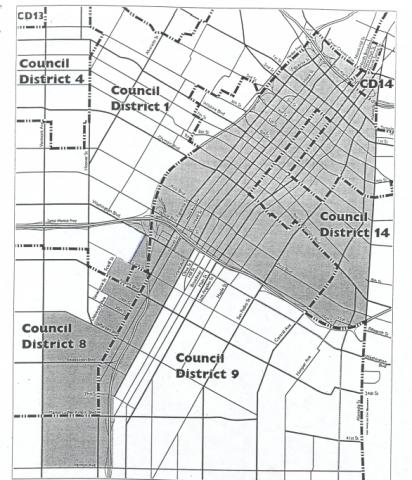 Adaptive reuse project area map