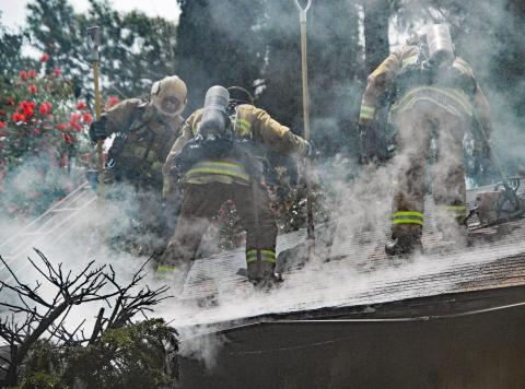 LAFD Firefighters Complete Extinguishment of a Deadly Lake View Terrace House Fire on May 2, 2019