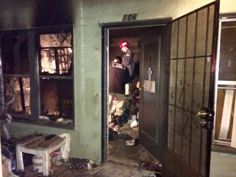 Arson determining cause of late night fire taking the life of elderly woman