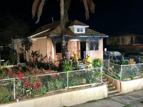 Front of home at 2223 E. Sheridan Street in Boyle Heights