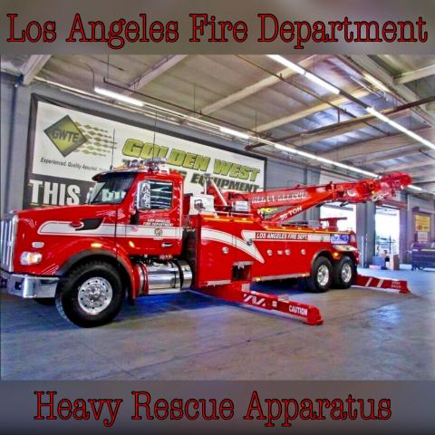 Lafd Takes Delivery Of A New 50 Ton Heavy Rescue Los