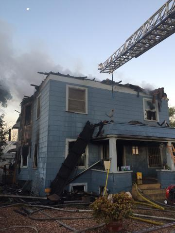 2 story home with significant fire damage
