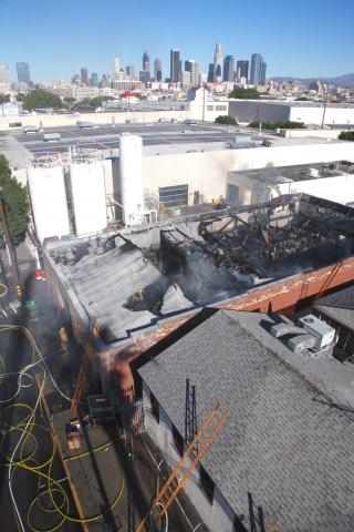 Metal Fabricating Firm Destroyed by Fire