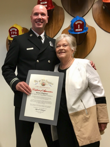 Firefighters And Civic Leaders Salute Lafd Foundation