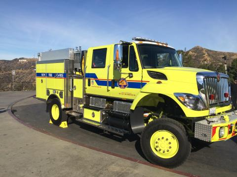 California OES Type III Wildland Fire Engine assigned to LAFD
