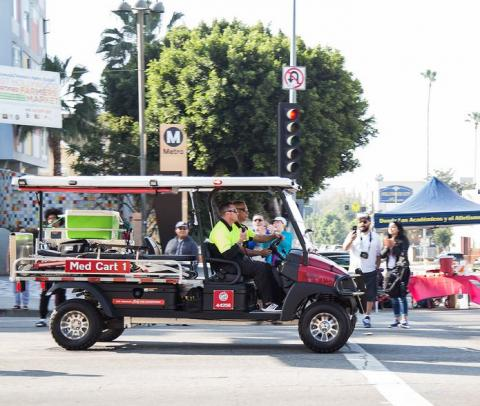 Firefighter on the Advanced Provider Response Unit (Med Cart 51).