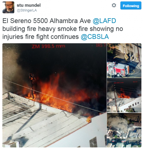 Los Angeles Firefighters Battle Greater Alarm Structure Fire In El Sereno
