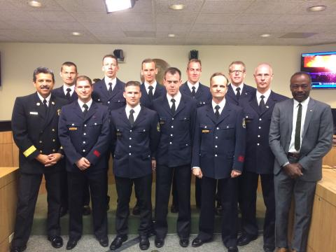 Tom LaBonge and Berlin Firefighters Honored at LAFD Board of Fire Commissioners