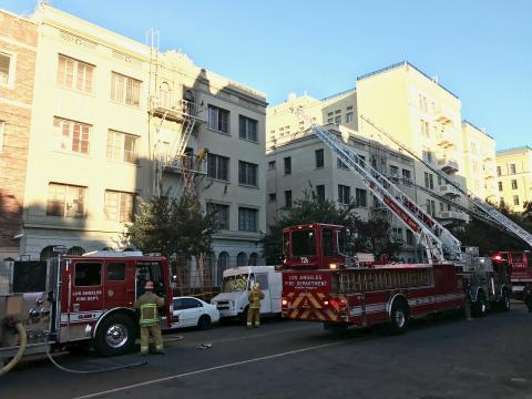 Building Saved in Koreatown | Los Angeles Fire Department