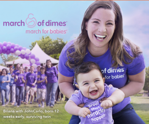 March for Babies Mother and Child Advertisement