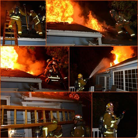 Photo Collage of your LAFD in action.